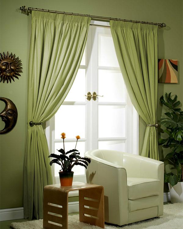 Canvas Pistachio Curtains