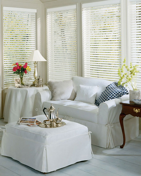 Premium White Wooden Blinds Uk