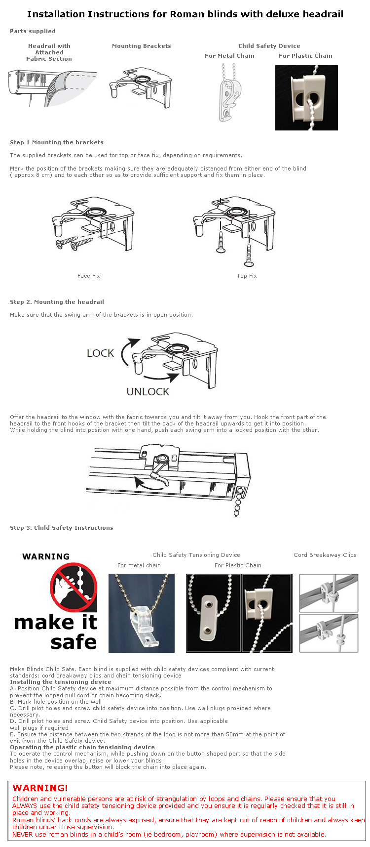Deluxe Headrail Fitting Instructions